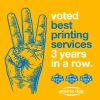 "Voted ""Best Printing Services"" in Regina, 3rd year in a row!"