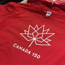 😍 🇨🇦 love these tees we just printed for SUMA, featuring the new Canada Day logo. #canada #canadaday #canada150 #tshirtPrinting #screenPrinting #tshirtPrinting #ohCanada #yqr #saskatchewan #regina