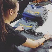 Amber & Tim, printing up a storm today. Check out our website for our latest t-shirt printing special. #canada #customtshirtscanada #customapparel #apparel #tshirtprinting #regina #yqr #saskatchewan #buzzin