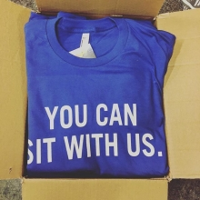 🤗fresh batch of tees for @iamstronger_sasktel. #youcansitwithus #sasktel #saskteliamstronger #iamstrongersk #stopbullying #yqr #saskatchewan #Sask #spreadthelove #americanapparel