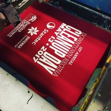 Printing some tees for @reginadowntownbid's First Annual Downtown Regina Cleanup Day on May 13th, 2017