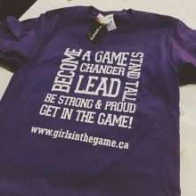 new tees for @girlsinthegameregina. ⛹️‍♀️🏌️‍♀️⚾️🎾🏈⚽️