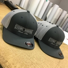 Custom hats for Stome Bridge Redi Mix 👌 #customhatscanada #yqr #sask #saskatchewan #embroidery