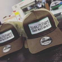 Hats off to Jason, for ordering these custom hats today! 🤓#theoffice #dwightschrute #schrutefarms #schrutefarmsbeets #beets #customhatscanada #truckerhat #farmlife #farming