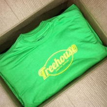 Fresh tees for @treehousevictoria #treehouse #tshirtPrinting #screenprinting #green