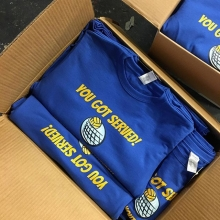 🤾‍♀️🏐 fresh order of tees for ICP Regina Youth Volleyball. #yqr #regina #saskatchewan #volleyball #reginavolleyball
