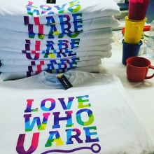 Love who you are, but love these awesome tees first. An order placed by the Saskatchewan union of nurses. #pride2018 #yqr #tees #silkscreen #reginapride #teamfloprint #union #of #nurses