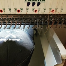 Embroidery, our Francis is a magician. #embroidery #cap #yqr #regina #canada #teamfloprint